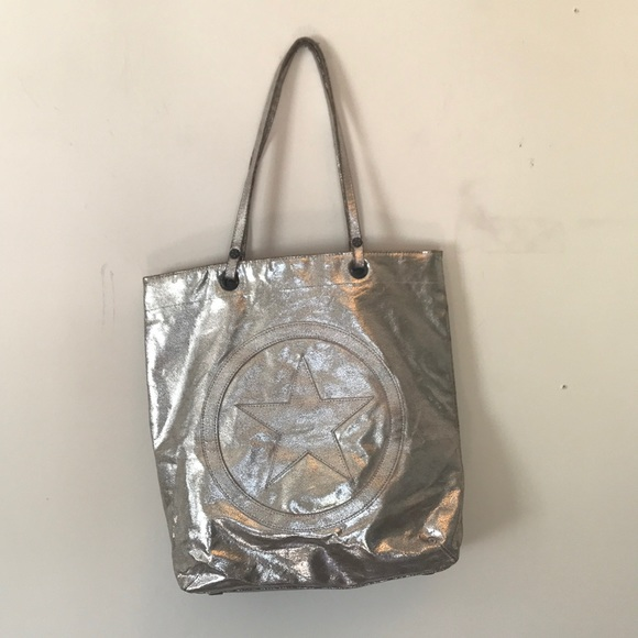 3d3ee0b70013 Converse Handbags - Converse silver distressed Tote Bag